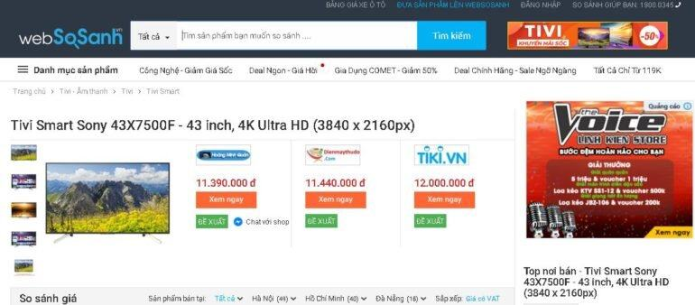 Android TV Sony 4K 43 inch KD-43X7500F